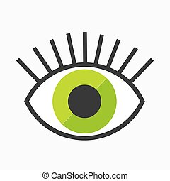 Abstract eye symbol
