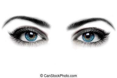 abstract eyes and eyelashes