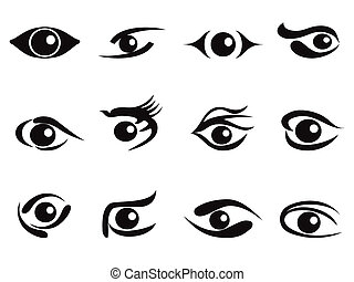 abstract eyes icon set