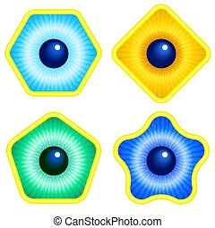 Abstract eyes illustration