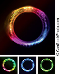 Abstract Eyes Iris Or Neon Light