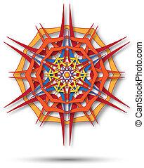 mandala harsh sunlight - abstract fabric colorfull mandala...