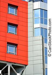abstract facade of a modern building
