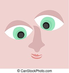 abstract face design