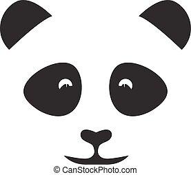 abstract face of cute panda vector design template