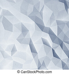 Abstract faceted paper pattern