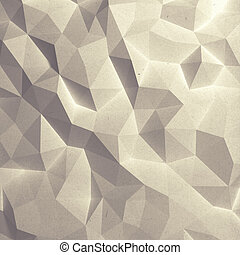 abstract, faceted, papier, model