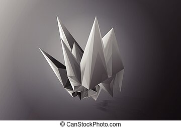 Abstract Facets,white,gray,black,vector