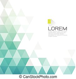 Abstract fade triangle with white space for text. Modern background for business or technology presentation. vector illustration