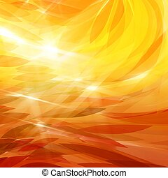 Abstract fall leaves - Illustration of abstract fall orange ...