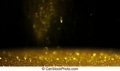 Abstract falling gold glitter background - Abstract falling...