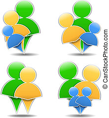 Abstract family icons