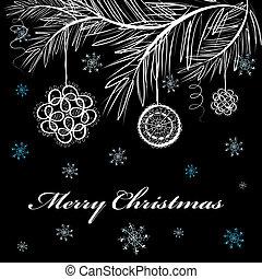 Abstract fantasy christmas card.