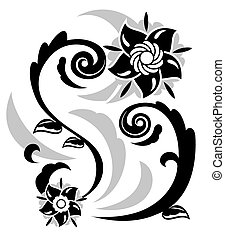Abstract fantasy flowers illustration 3
