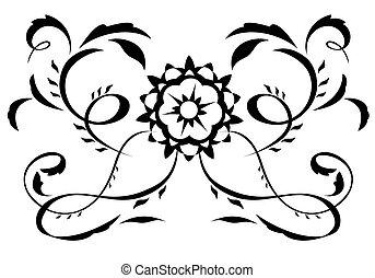 Abstract fantasy flowers illustration 5
