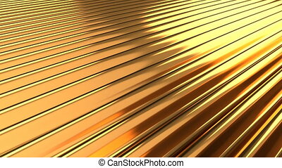 Abstract fantasy gold wave background able to loop