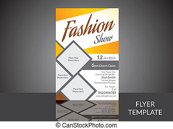 abstract fashion flyer template vector illustration