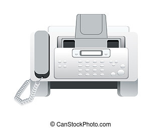 abstract fax machine icon vector illustration