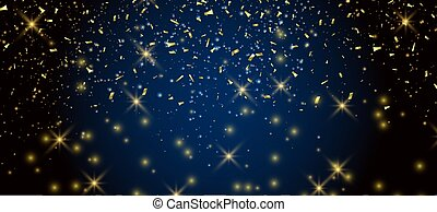 Abstract festive background with confetti
