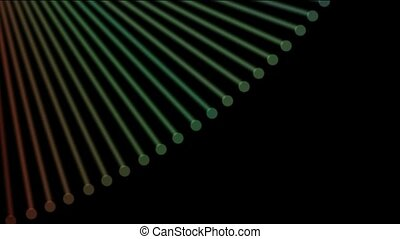 abstract fiber optic,metal machine probe background,music...