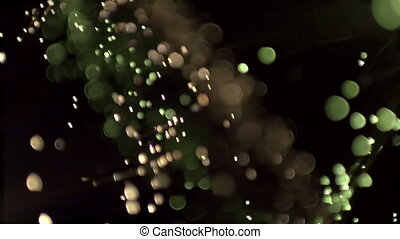 abstract fibre optic lights shot in super slow motion with...