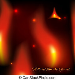Abstract fiery background