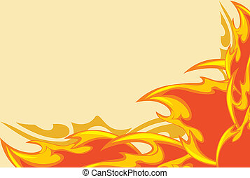 Abstract fiery background. Vector illustration