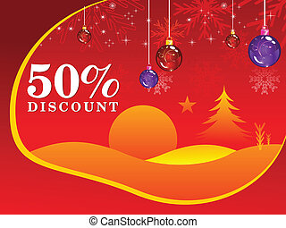 abstract fifty percent discount background vector...