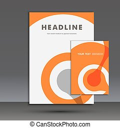 Abstract figure on the cover template A4. Vector design