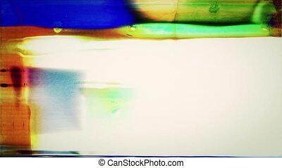 Film FX1041: Abstract film leader forms flicker and streak (Loop).