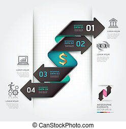 Abstract finance arrow infographics