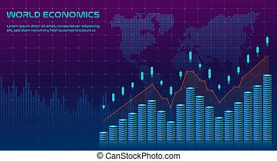 Abstract finance background. Vector illustration.