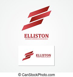 Abstract finance logo with business card template