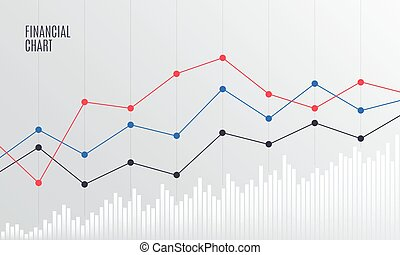 Abstract Financial Chart with Line graph.