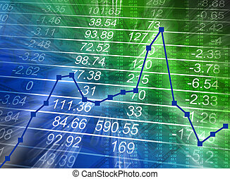 Abstract Financial Chart with Numbers - Abstract financial...