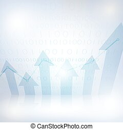 Abstract financial chart with uptrend line graph-5