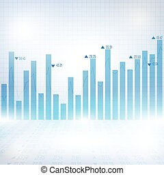 Abstract financial chart with uptrend line graph-6