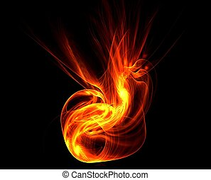 abstract fire background 8