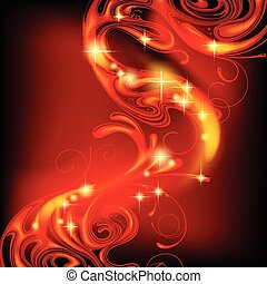 Abstract fire background - Red abstract luminous fire...