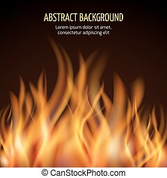 Abstract fire flame vector background