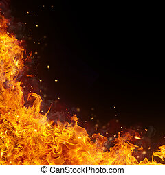 Abstract fire flames background
