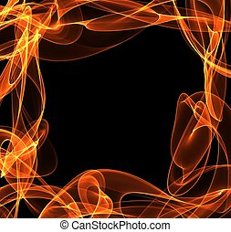 abstract fire frame copyspace
