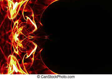 abstract fire frame on black bacground