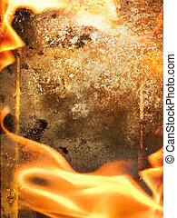Abstract fire frame