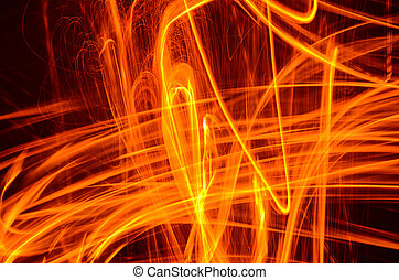 Abstract Fire in Motion
