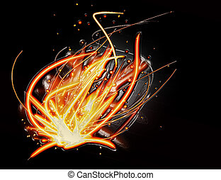 abstract fire light background