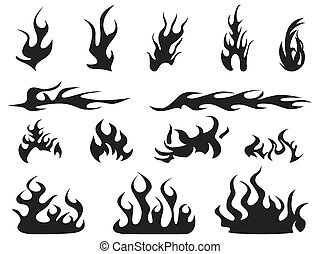 abstract fire patterns icons