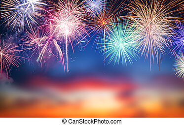 Abstract firework background with free space for text - ...