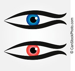 Abstract fish with large eyeball inside