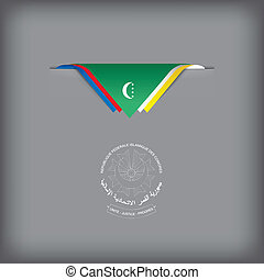 Abstract flag of Comoros